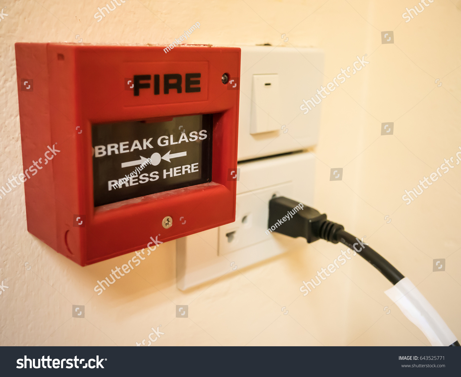 hight resolution of fire alarm install near a swith and plug