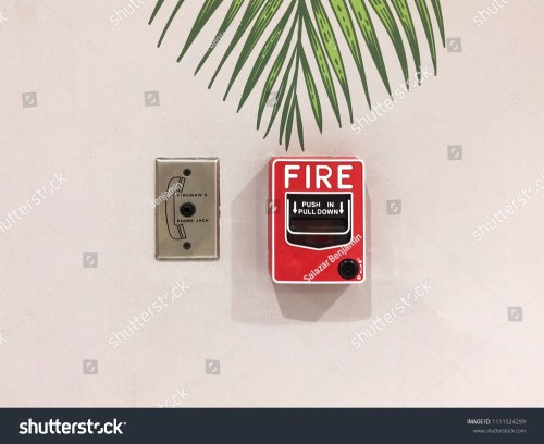 small resolution of fire alarm notifier and fireman s phone jack on white wall in fire emergency system