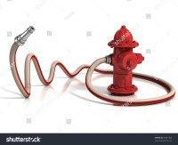 Fire Hydrant With Fire Hose 3d Illustration - 99367406 ...