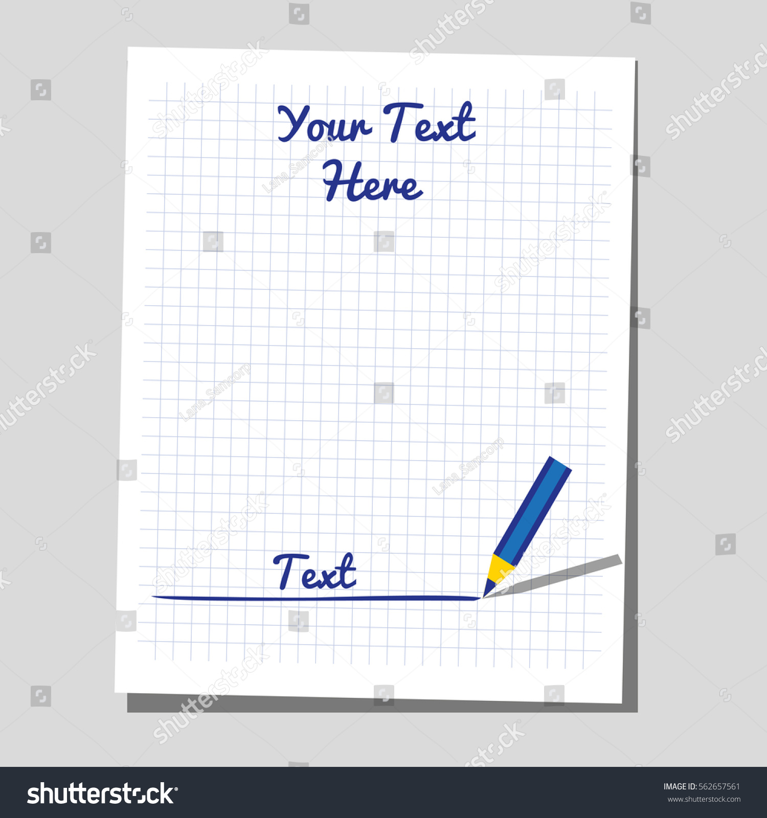 Flat Identity Blank Sheet Of Paper For Writing, Test, Exam. Business Test  Icon