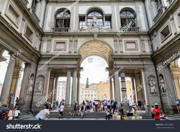 Florence Italy - Agoust 04 2014 Uffizi