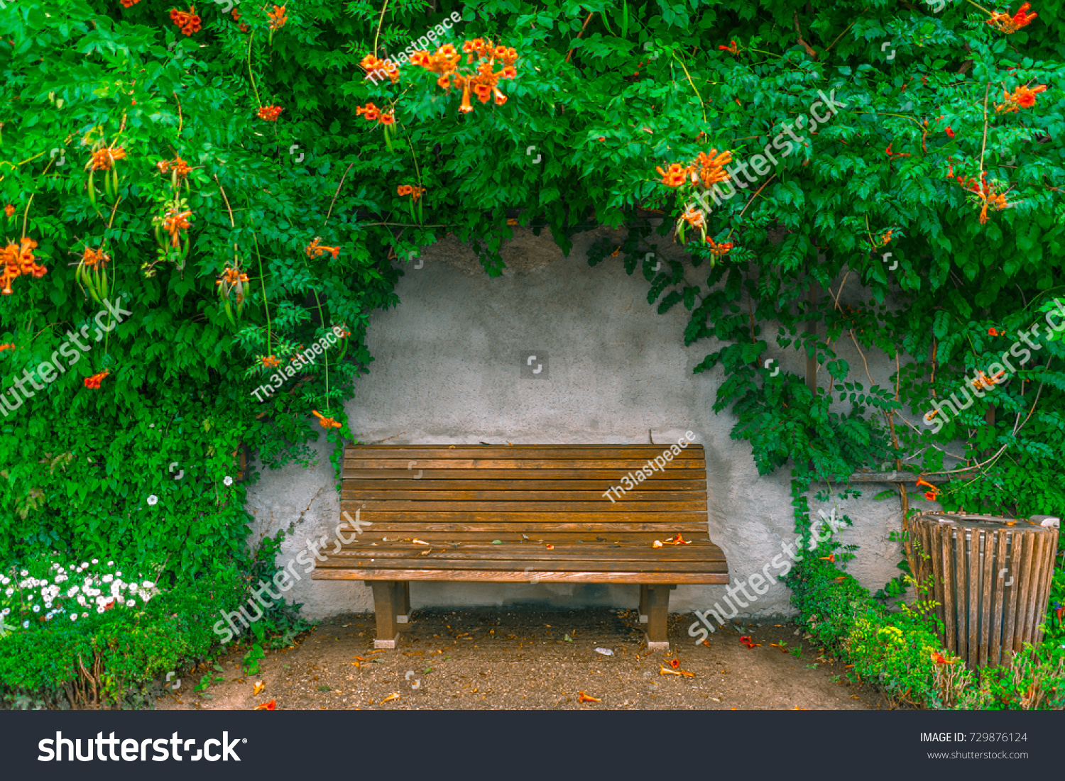chair photo frame hd slip covers in store flower wooden chairs garden stock edit now 729876124 of