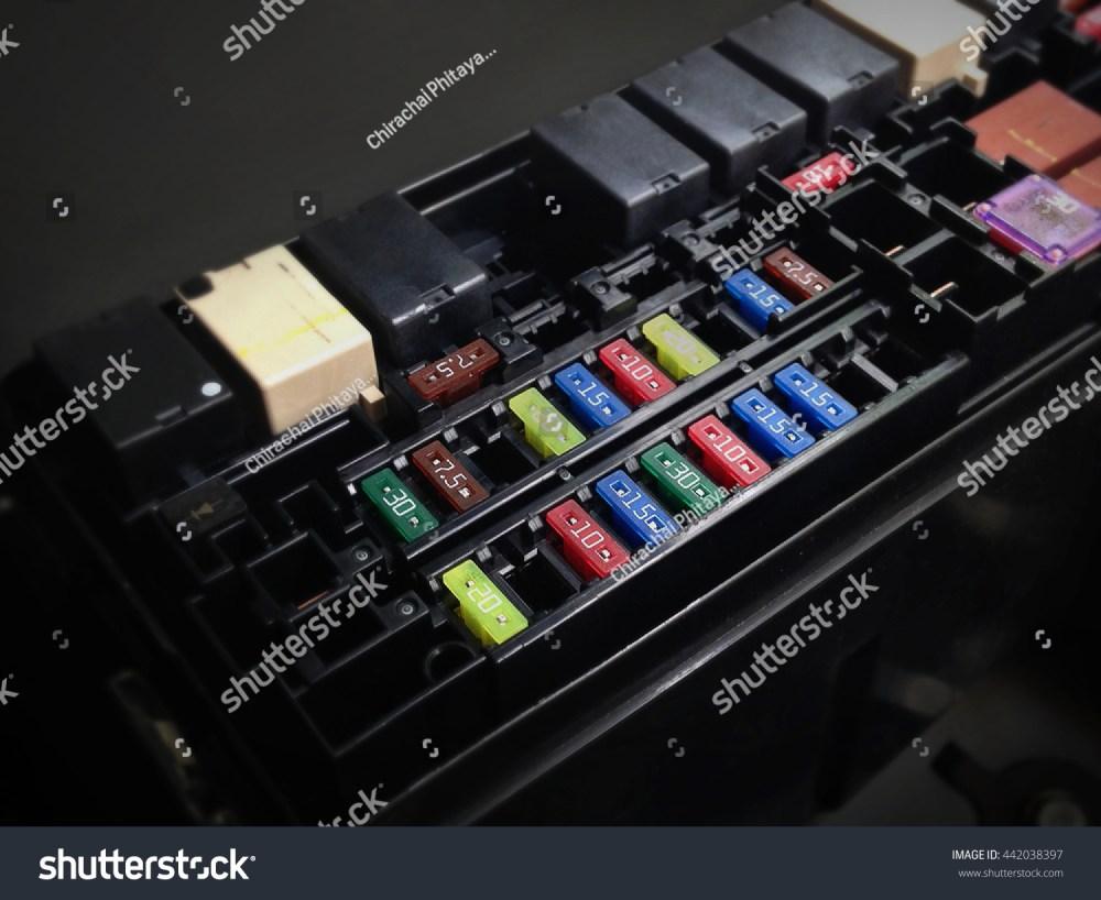 medium resolution of focus of car fuse box in low key light control engine lighting of car