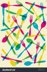 background food menu restaurant silhouette vector cutlery suitable invitation card dinner shutterstock