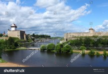 Fortress Narva And Ivangorod Border Of