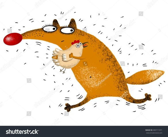 Image result for fox and chicken cartoon