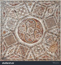 Fragment Ancient Floor Mosaic Colorful Small Stock Photo ...