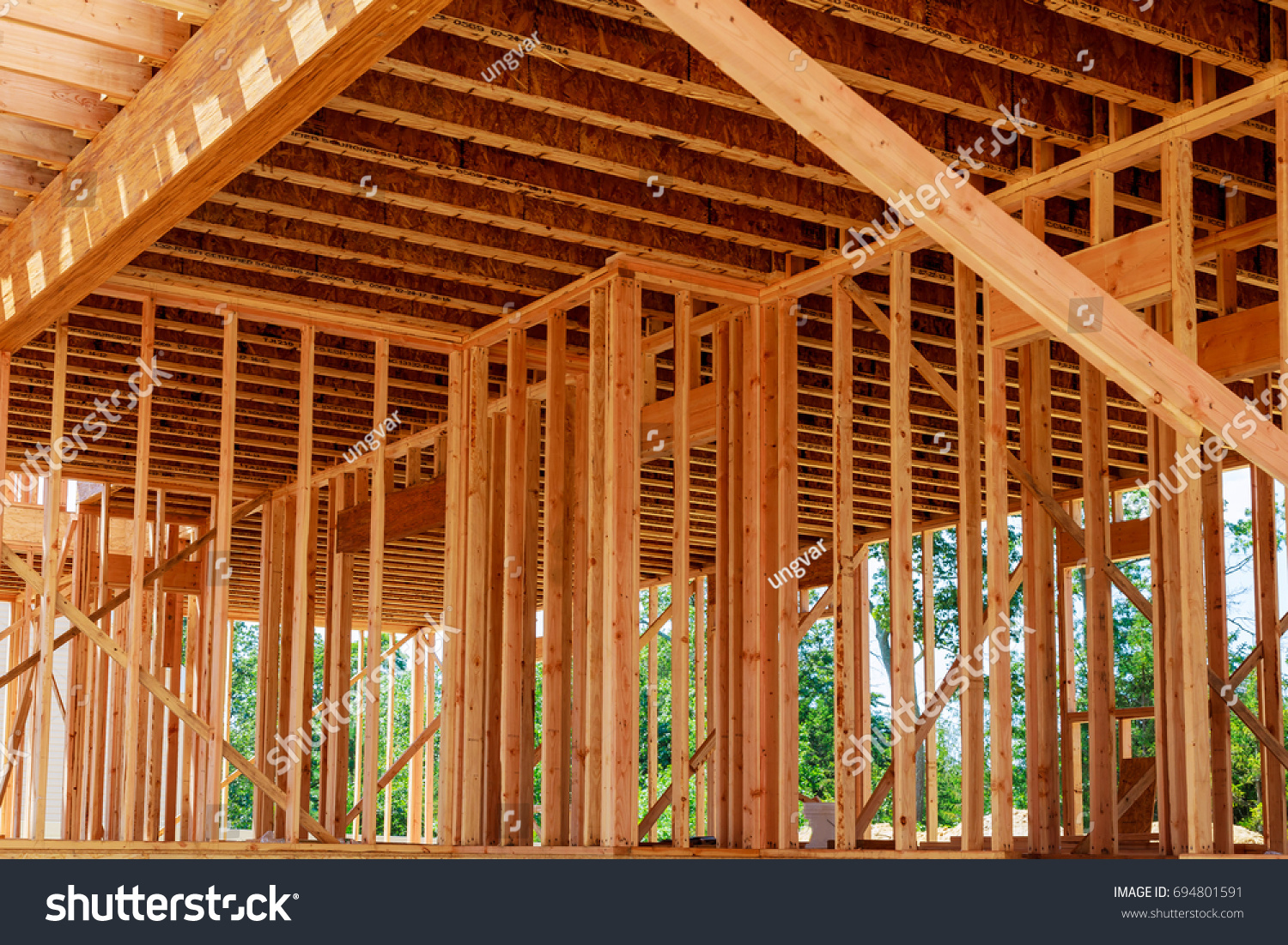 hight resolution of framed building or residential home with basic electrical wiring and hvac complete