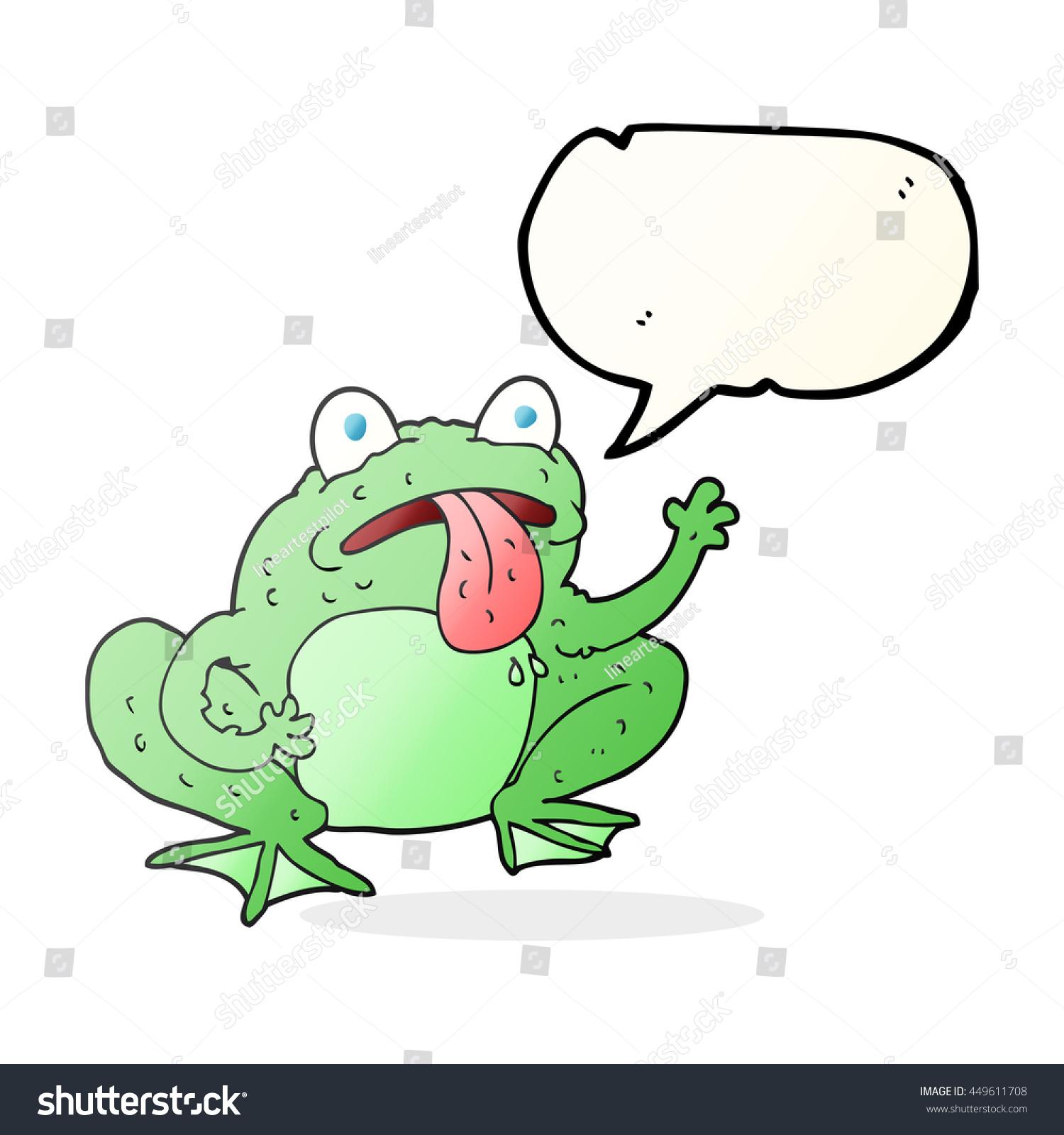 hight resolution of freehand drawn speech bubble cartoon frog