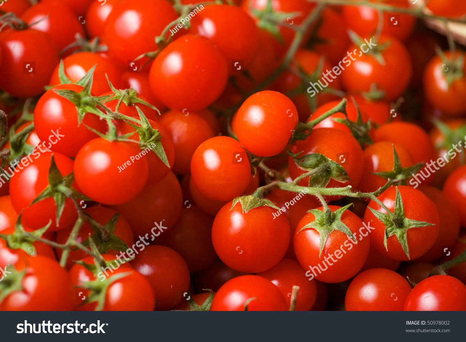 Fresh And Tasty Cherry Tomato In Grocery Store. Stock Photo 50978002 : Shutterstock