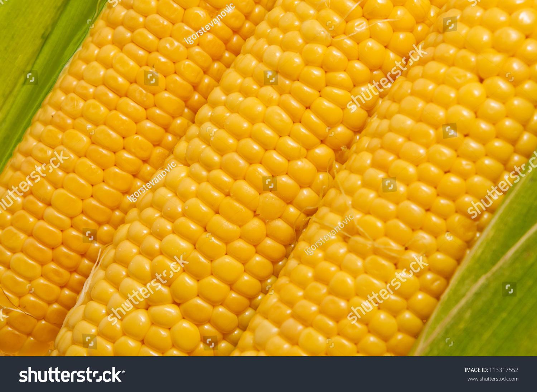 Fresh Yellow Sweet Corn Cob, Healthy Eating Background Image. Stock Photo 113317552 : Shutterstock