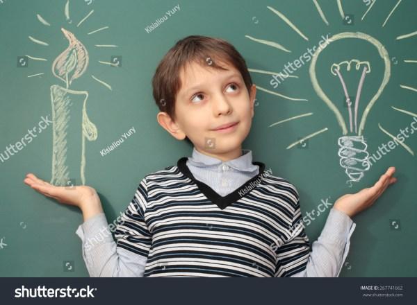 Funny Education Idea History Development Stock