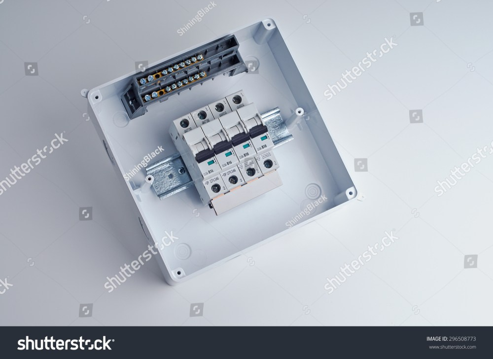 medium resolution of fusebox small open electrical cabinet with four automatic fuses ready for wiring and installing