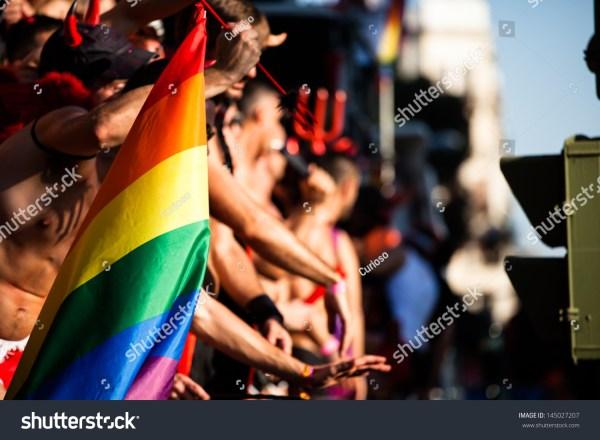 Gay Lesbians Walk Pride Parade Stock 145027207