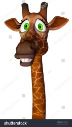 scary close giraffe cartoon shutterstock