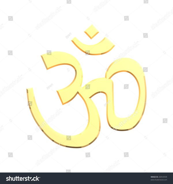 Aum Symbol Gold 3d Graphic Stock Illustration Of - Year of