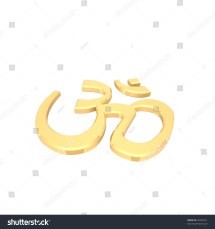 Chrome Hinduism Symbol Computer Generated 3d - Year of Clean