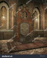 throne fantasy gothic temple shutterstock