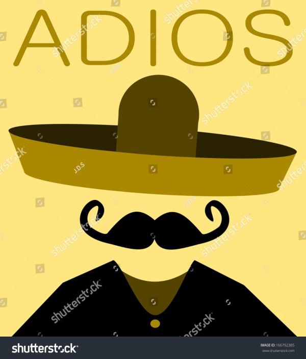 Spanish Adios Clip Art