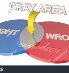 gray area right vs wrong ambiguity venn diagram 3d illustration [ 1500 x 970 Pixel ]