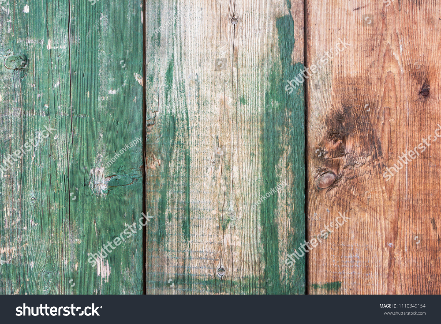 Green Barn Wooden Wall Paneling Wide Stock Photo Edit Now 1110349154