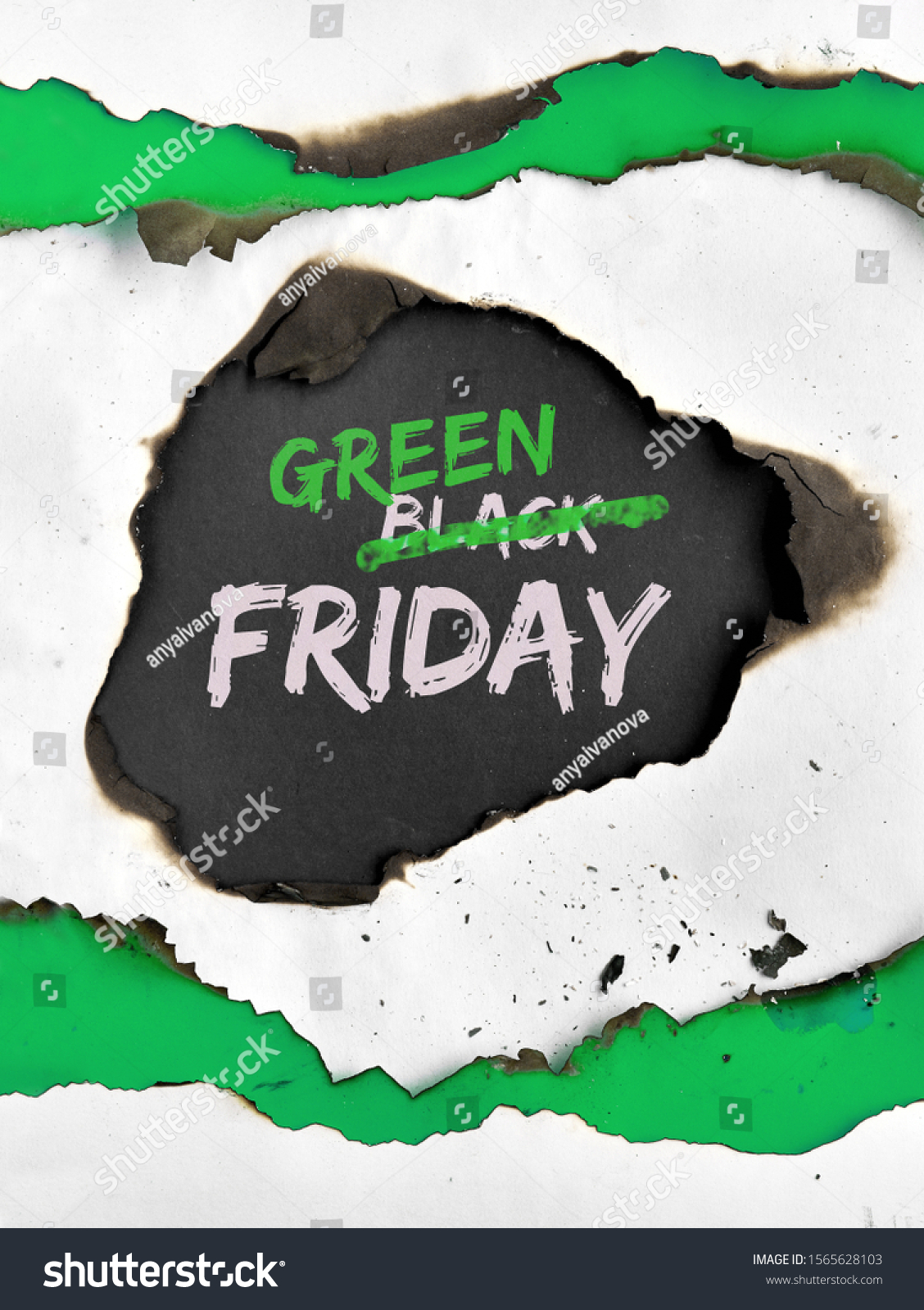 How To Strike Out In Word : strike, Green, Friday, Concept, Burned, White, Stock, Photo, (Edit, 1565628103