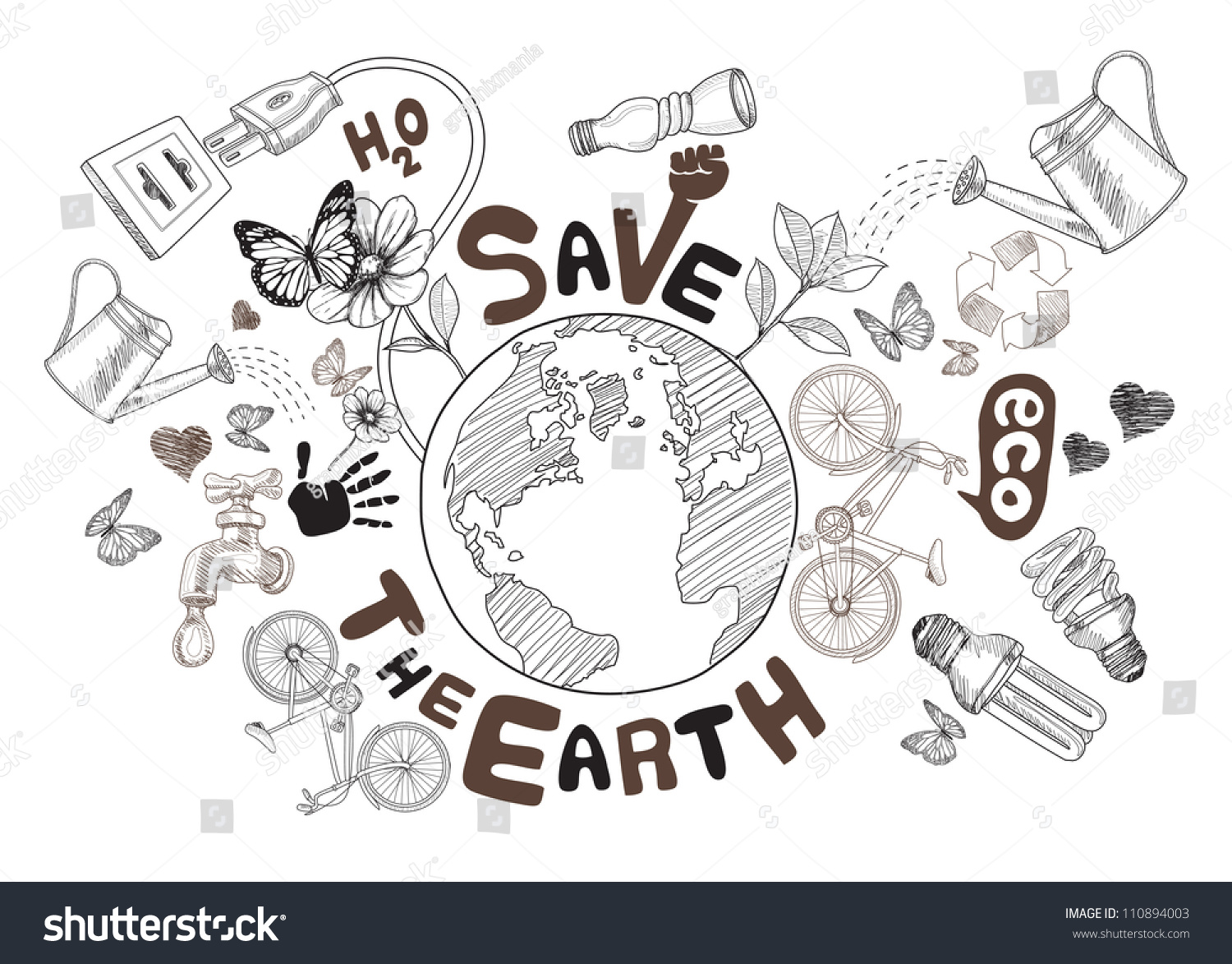 Easy Drawing Of Save Nature Earth Drawing In 60s How To Draw Earth