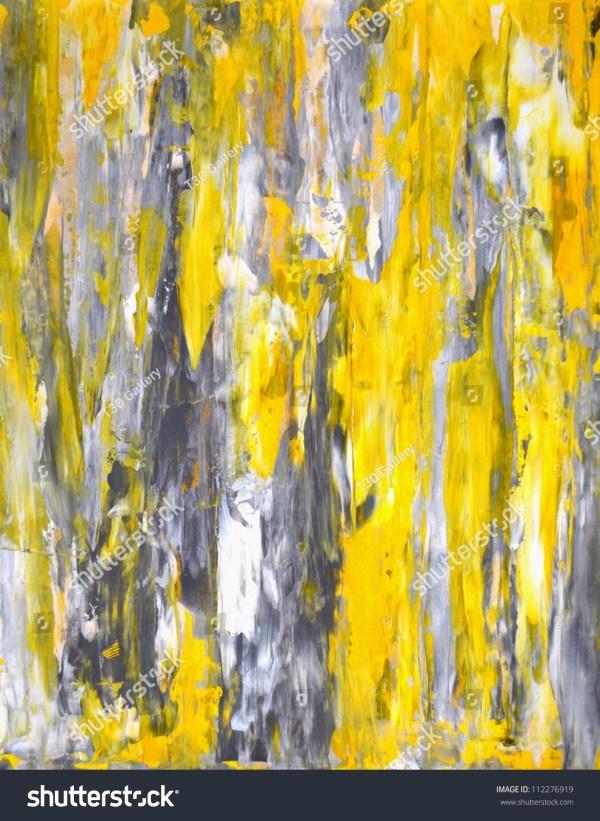 Grey Yellow Abstract Art Painting Stock Illustration 112276919 - Shutterstock