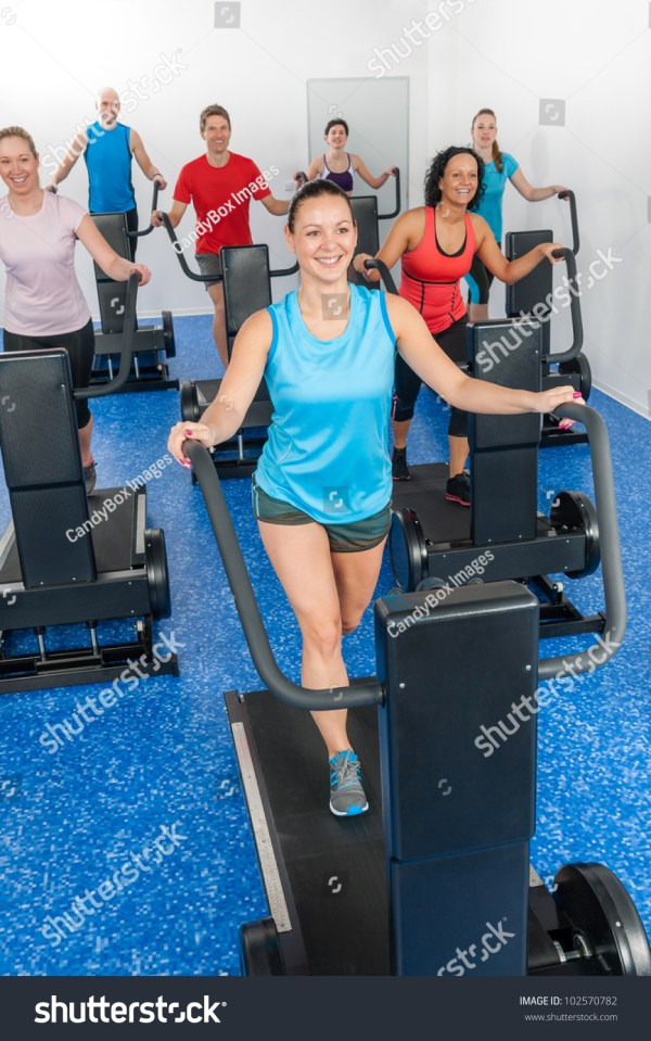 Group Gym Class Walk Treadmill Running Belt Fitness Club Stock 102570782 Shutterstock