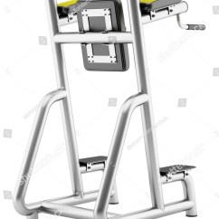 Gym Quality Roman Chair Free Wood Plans Isolated On White Background Stock Photo