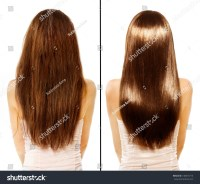 Hair Before After Advertising Portrait Hairstyle Stock ...