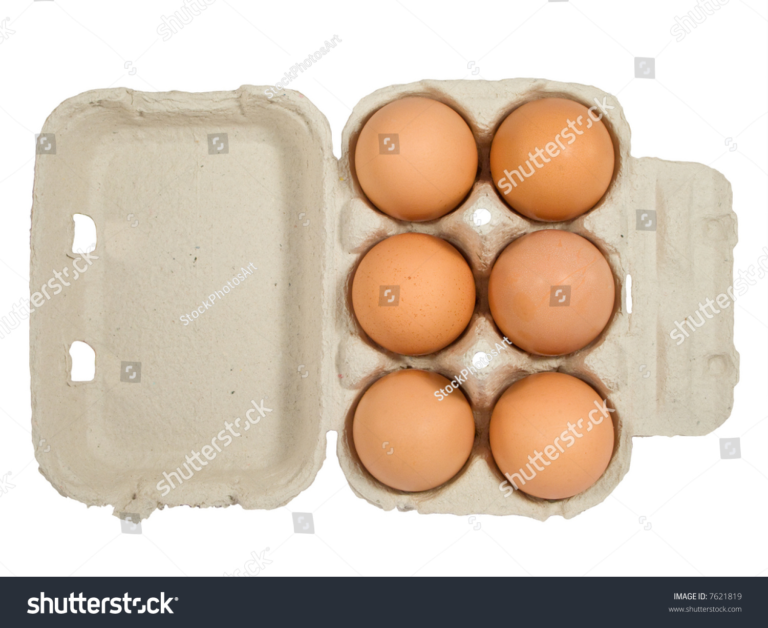 Half Dozen Fresh Eggs In Box Stock Photo 7621819 : Shutterstock