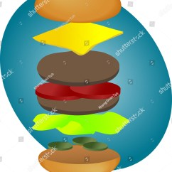 Spatial Diagram Of Fast Food Piping And Instrumentation Book Hamburger Illustration Breakdown Into Sections