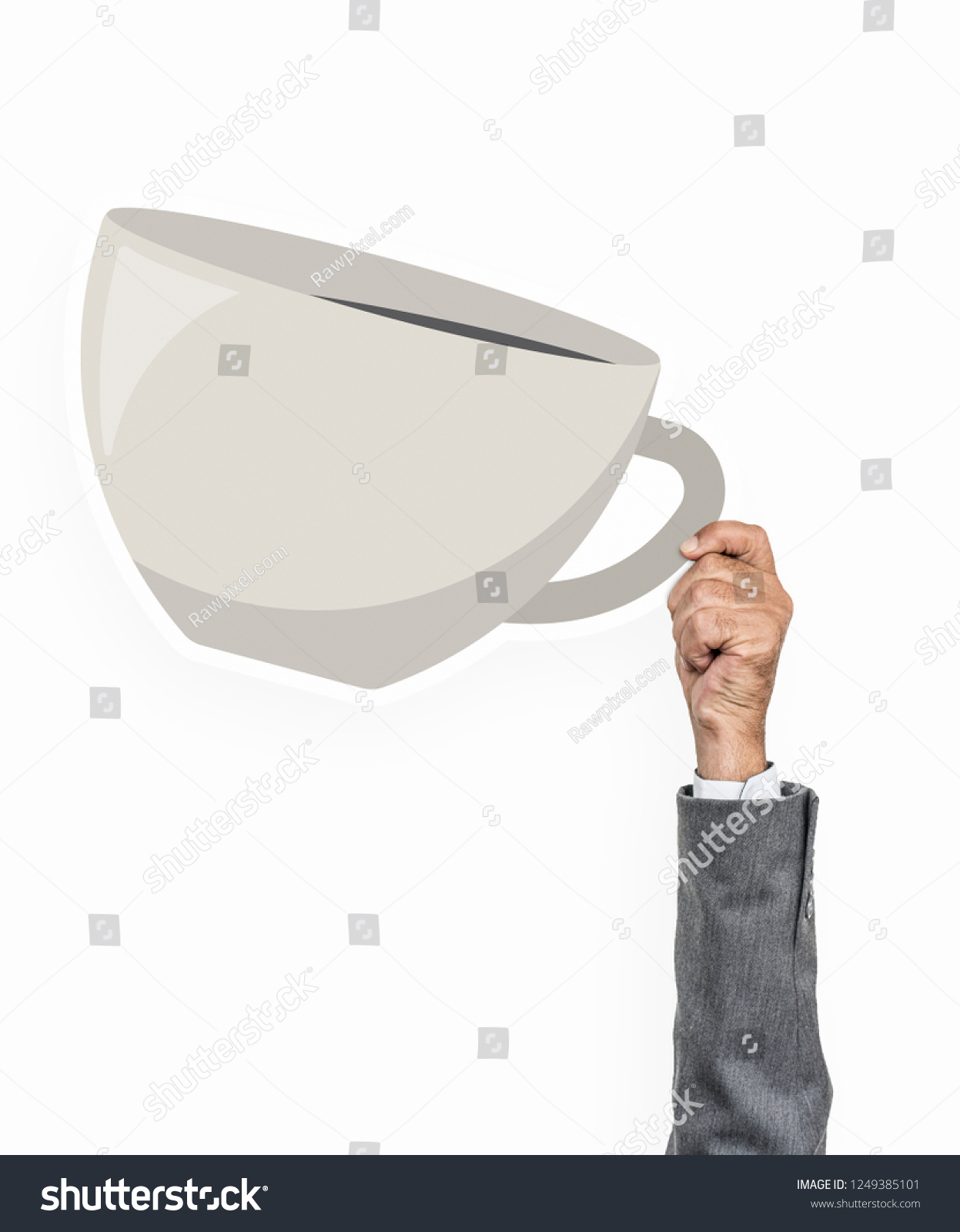 hight resolution of hand holding a cup of coffee clipart