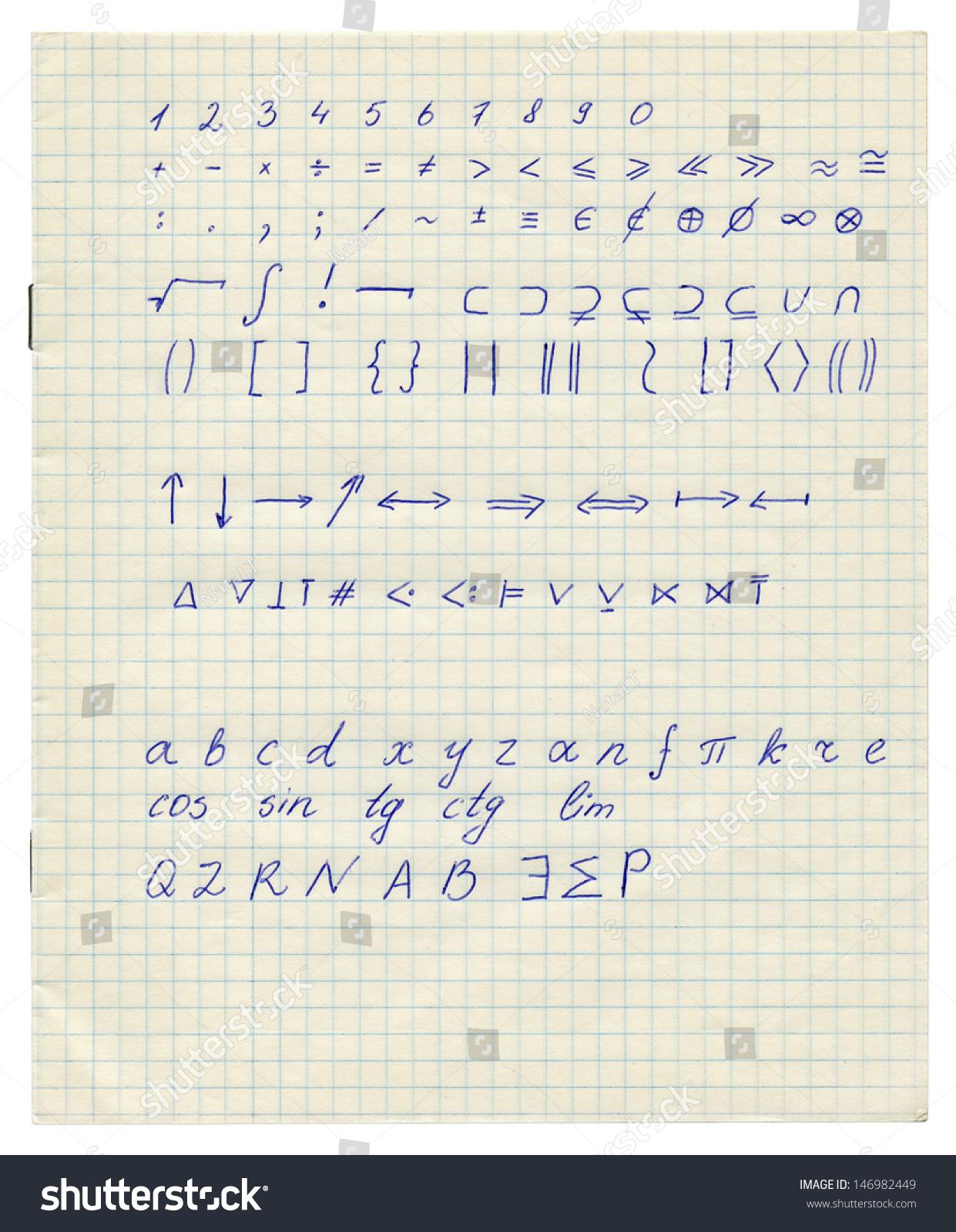 Math Symbols Printable Chart