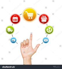 Hand Ecommerce Icon Internet Online Stock