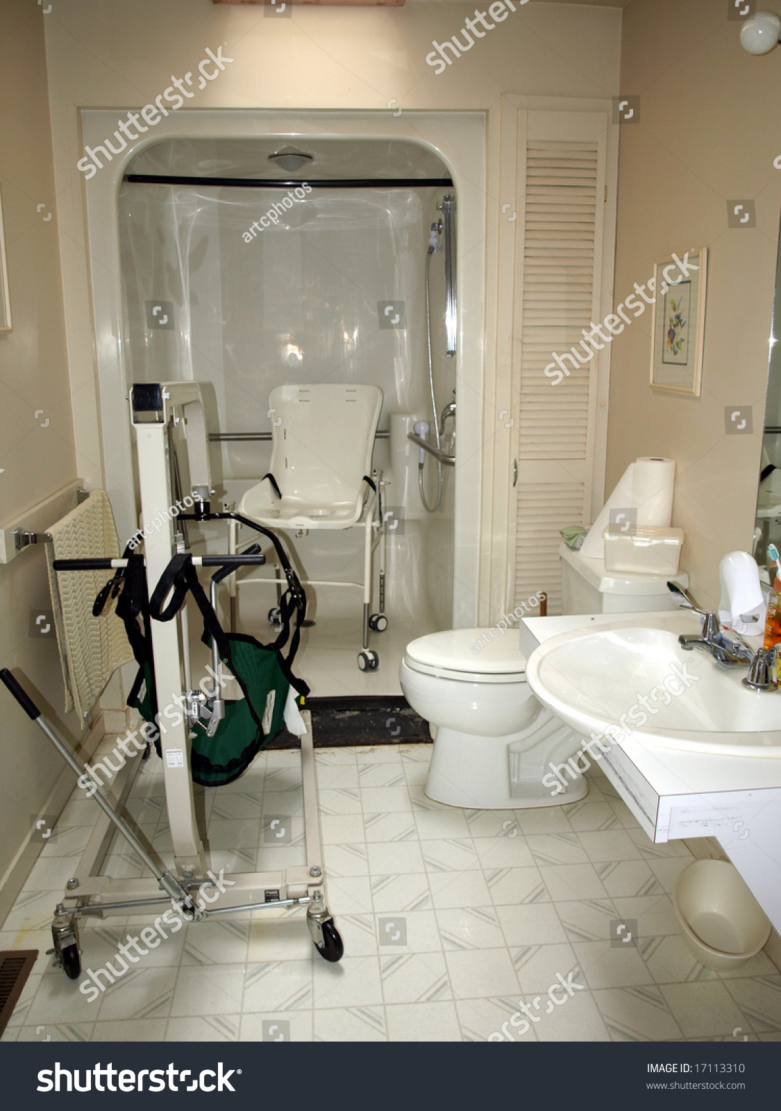 Handicap Shower Chair Handicapped Bathroom With Shower Chair Lift And