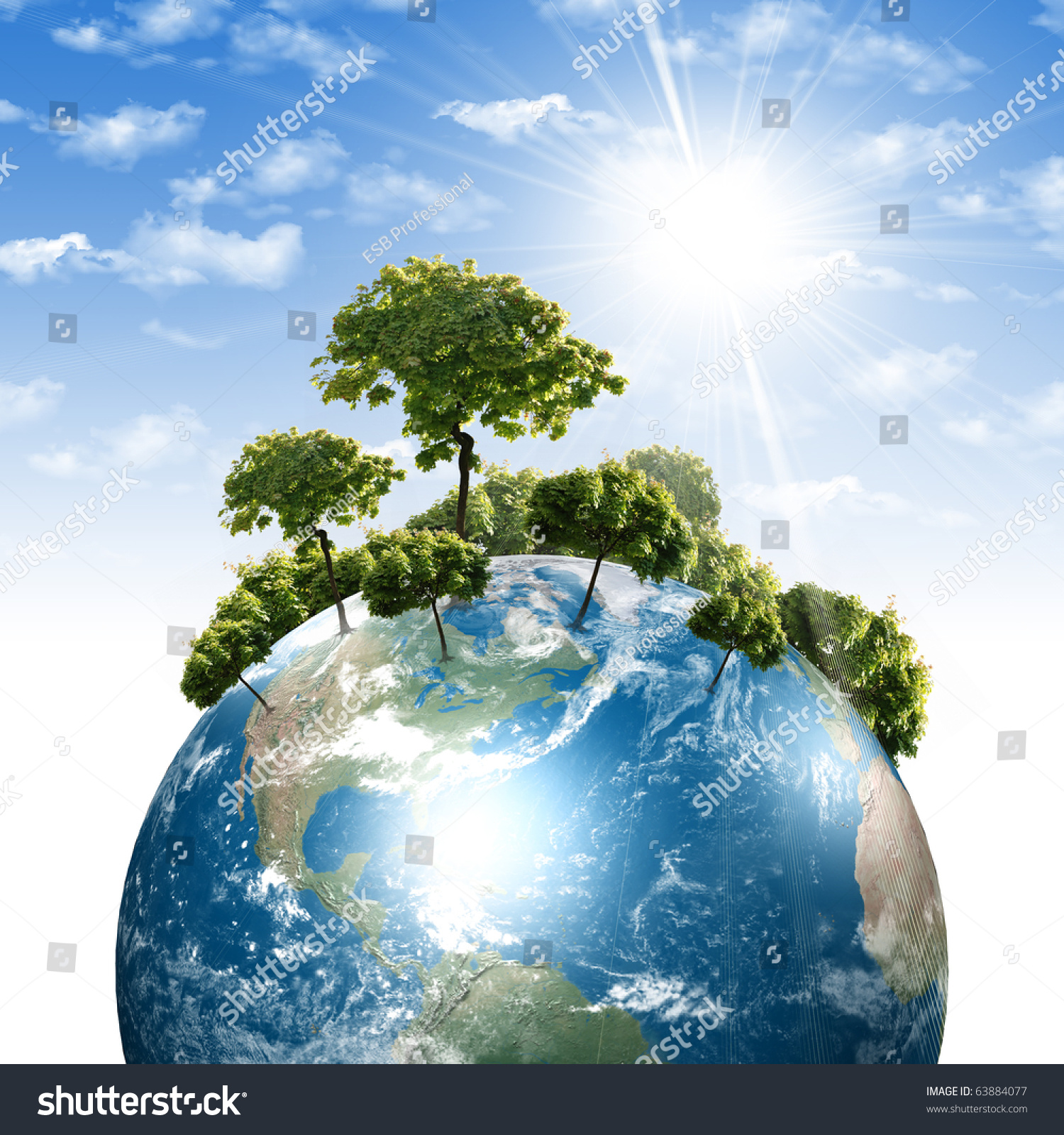 Hands Earth Symbol Environmental Protection Stock