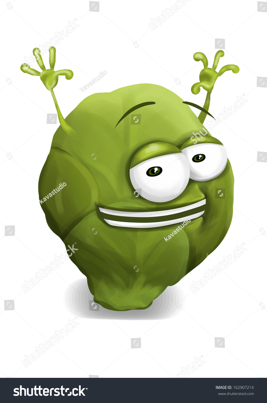 Funny Pictures Of Brussel Sprouts : funny, pictures, brussel, sprouts, Happy, Brussel, Sprouts, Funny, Brussels, Stock, Illustration, 162907214