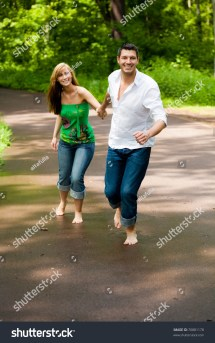 Barefoot of a Happy Couple