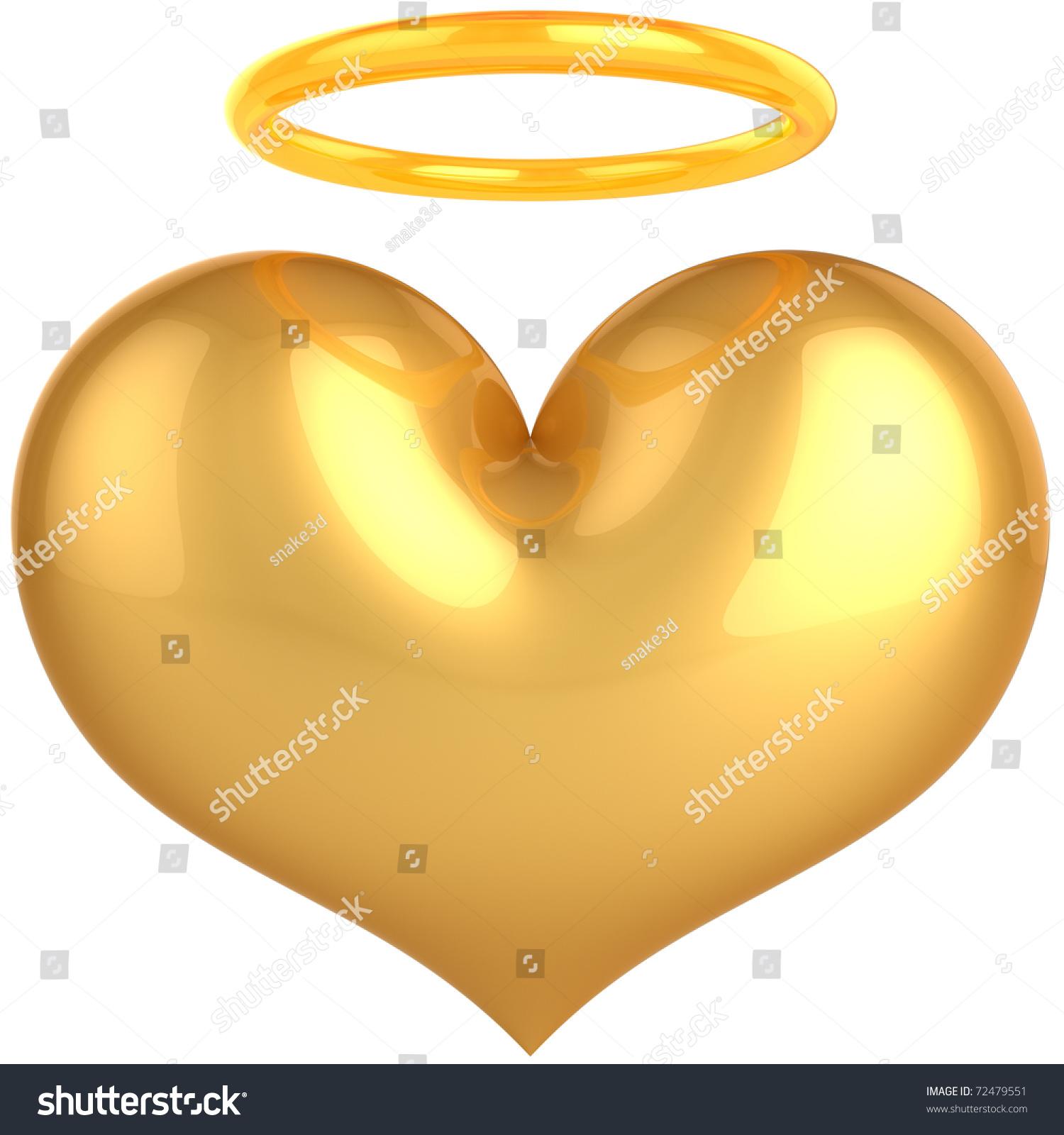 Heart Love Angel Golden Symbol Love Stock Illustration 72479551 Shutterstock