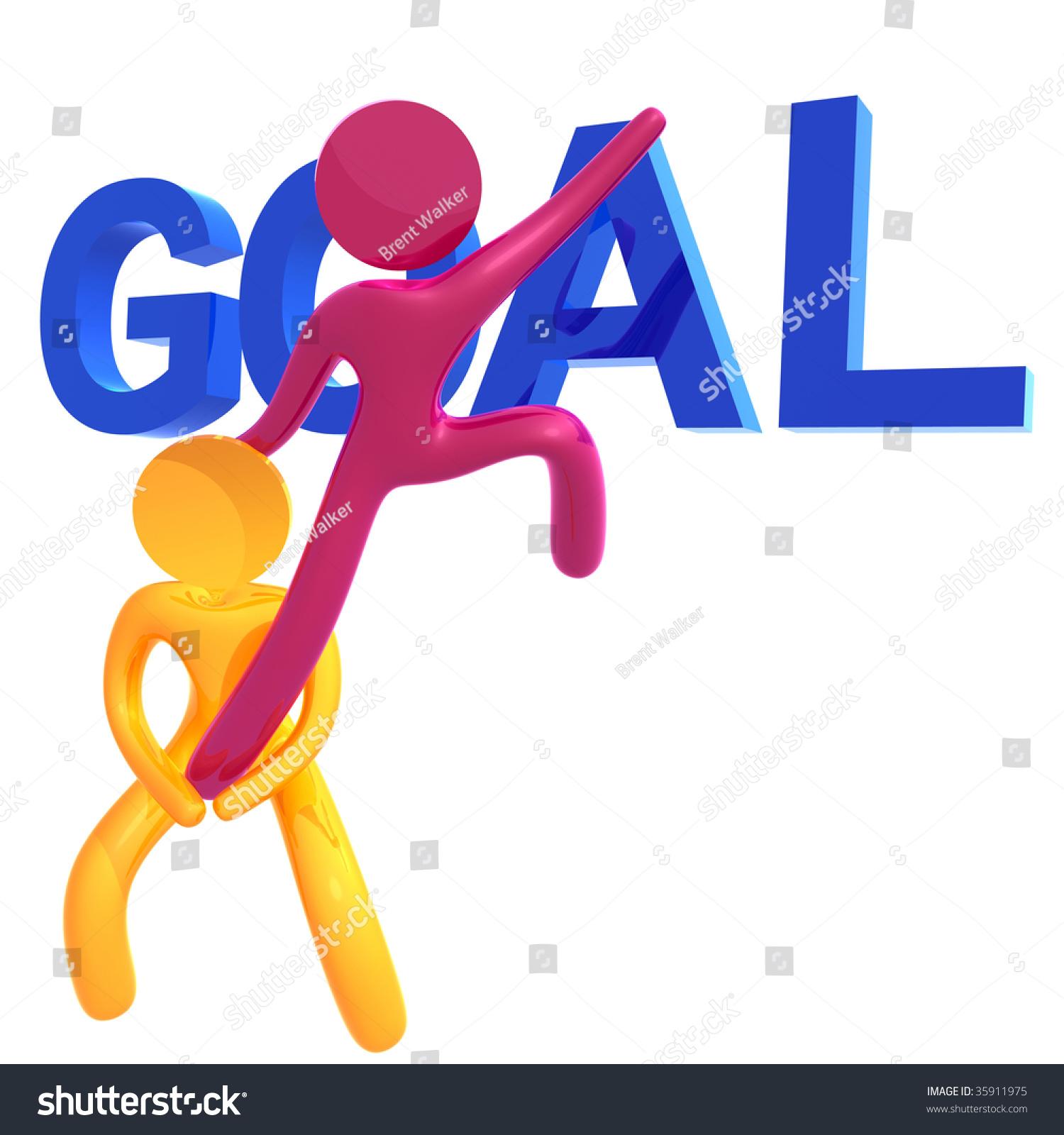 Helping Friend To Achieve Goals 3d Orange Pictogram Icon Stock Photo 35911975 : Shutterstock