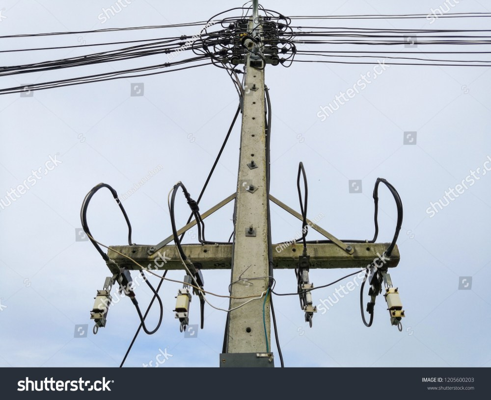 medium resolution of high voltage wiring and fuse kit to prevent short circuit when overloaded on concrete pole
