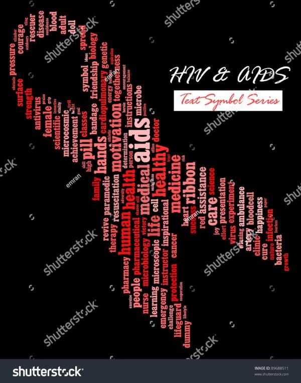 Hivaids Awareness Campaign Infotextcloud Wordword Collage