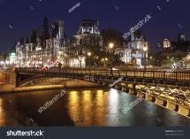 Seine River Paris Bridges at Night