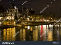Hotel De Ville City Hall Of Paris And Seine River