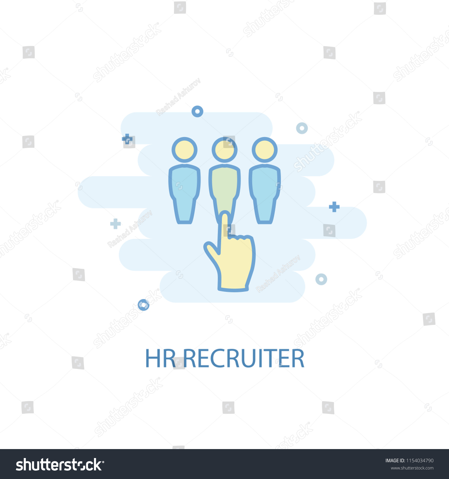 hight resolution of hr recruiter concept trendy icon simple line colored illustration hr recruiter concept symbol