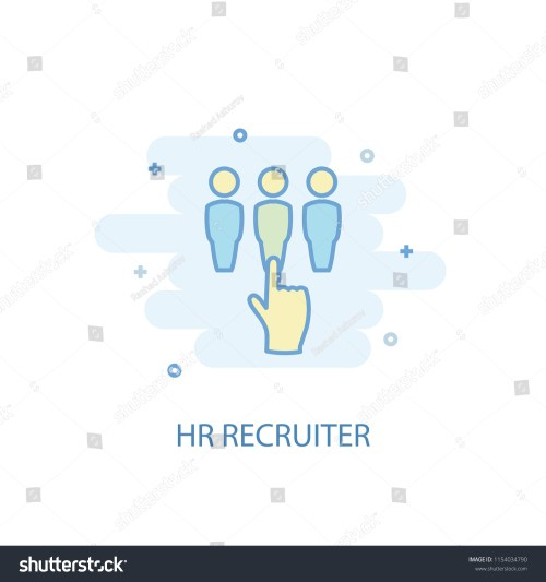 small resolution of hr recruiter concept trendy icon simple line colored illustration hr recruiter concept symbol