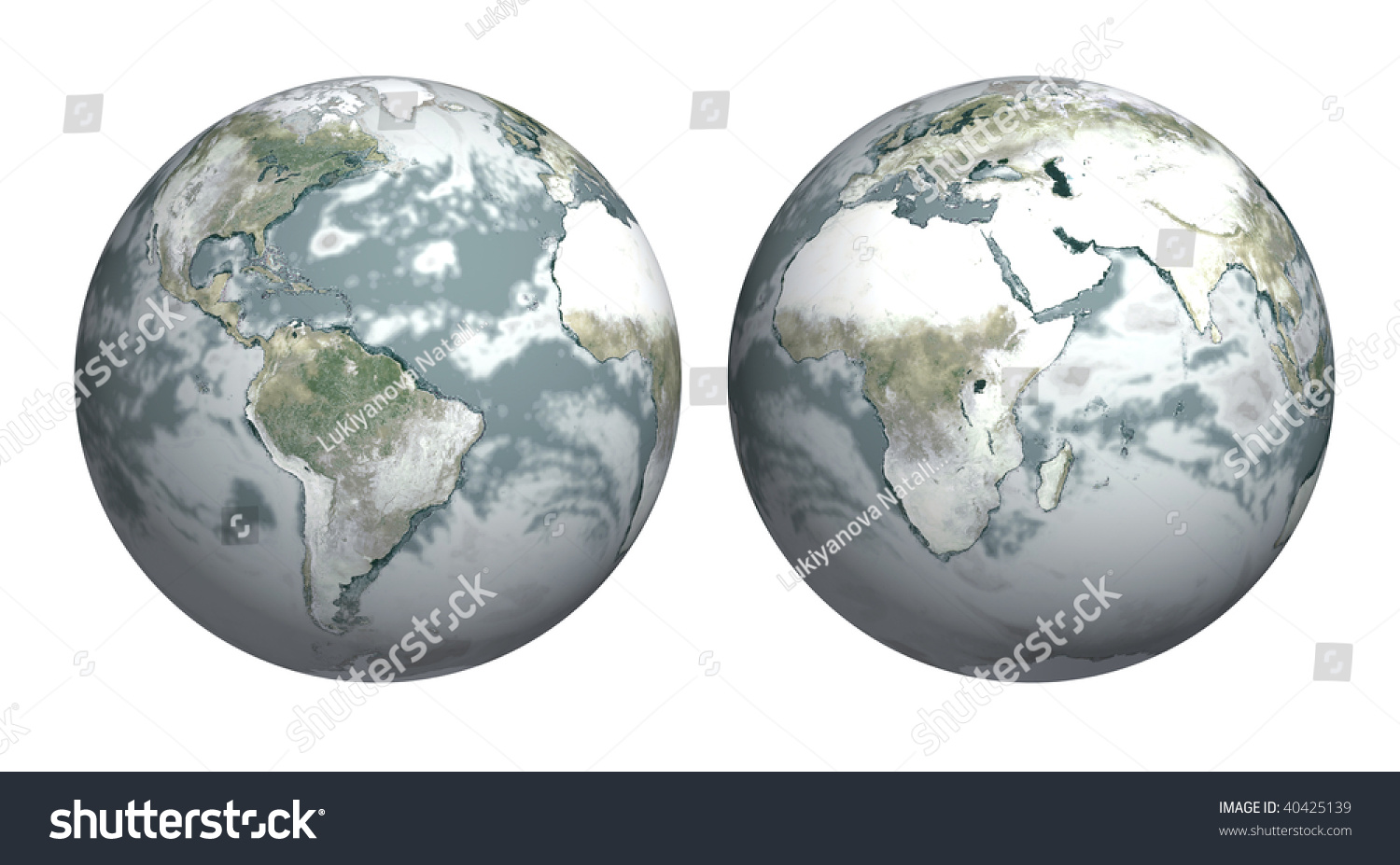 Ice Age Earth Covered Snow Stock Illustration