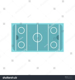 ice hockey rink icon in flat style on a white background illustration [ 1500 x 1600 Pixel ]